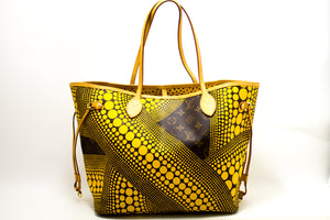 Louis Vuitton Yayoi Kusama Neverfull MM Yellow Shoulder Bag Tote n57-Louis Vuitton-hannari-shop