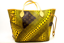 Louis Vuitton Yayoi Kusama Neverfull MM Yellow Shoulder Bag Tote n57