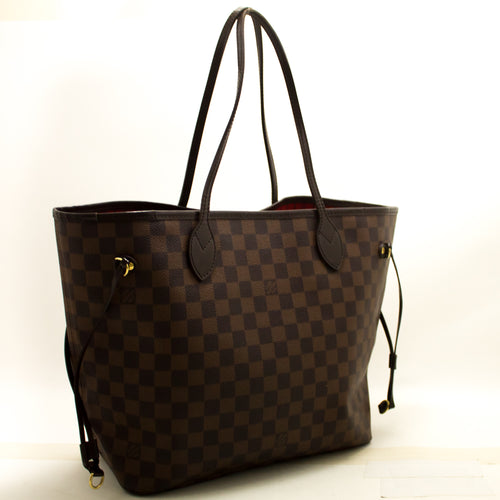 Louis Vuitton Damier Ebene Neverfull MM Shoulder Bag Canvas n39