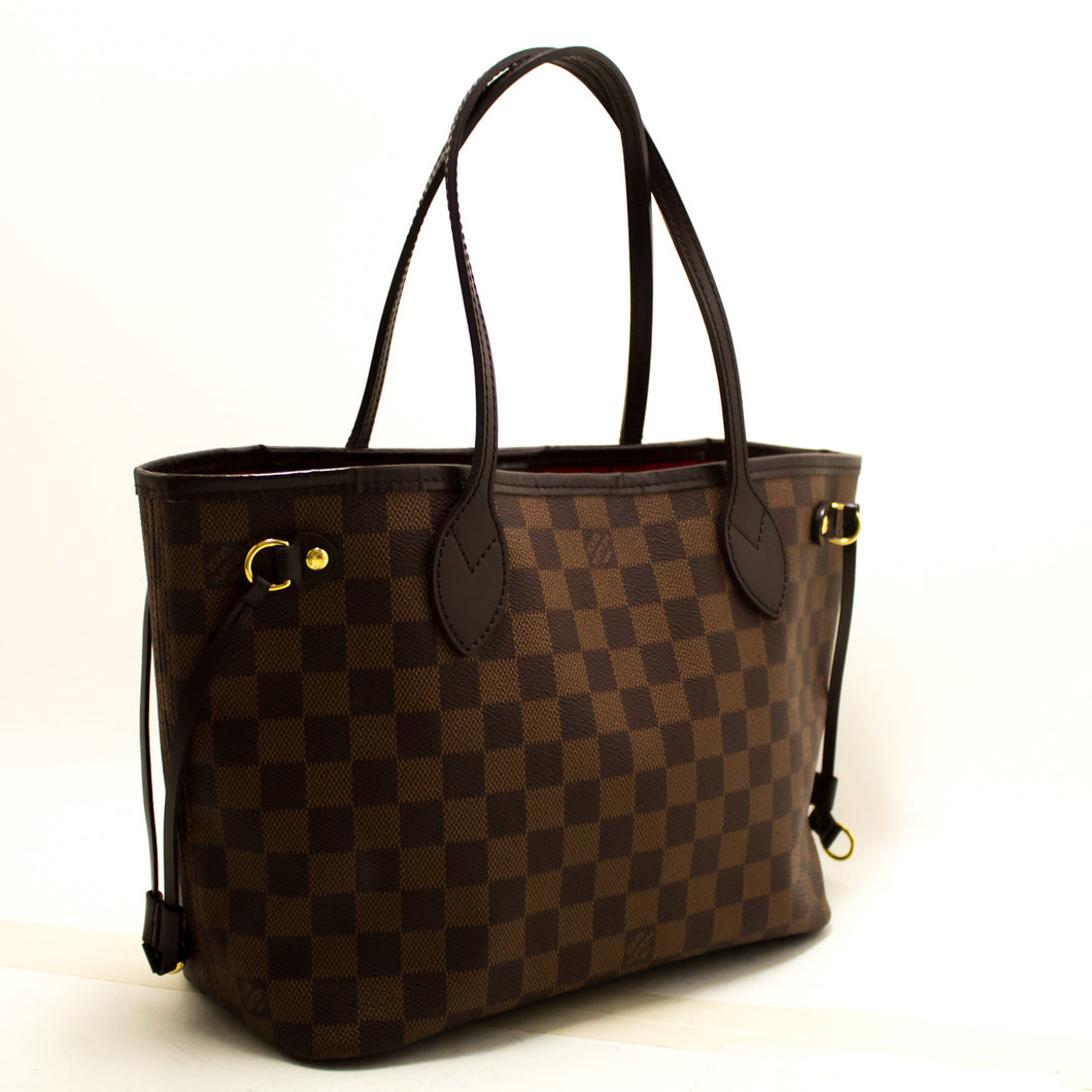 Louis Vuitton Damier Ebene Neverfull PM Shoulder Bag Canvas Tote n59-Louis Vuitton-hannari-shop