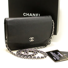CHANEL Caviar Wallet On Chain WOC Black Shoulder Bag Crossbody n25