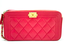 CHANEL Boy Hot Pink Wallet on Chain WOC W Zip Chain сумка на плечы n53-Chanel-hannari-крама