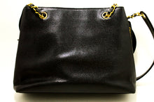 CHANEL Caviar Large Chain Shoulder Bag Black Leather Gold Zipper n33-Chanel-hannari-shop