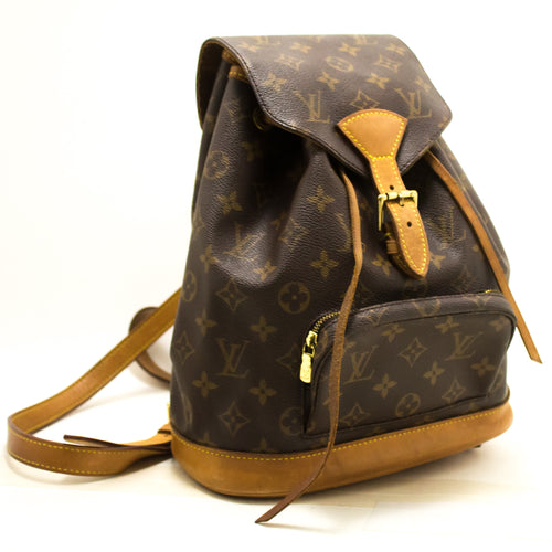 Louis Vuitton Montsouris MM Monogram Backpack Bag Canvas Leather n61-Louis Vuitton-hannari-shop