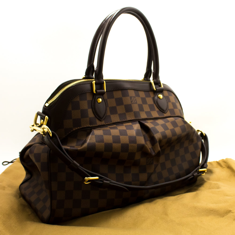 938f3b917113 ... Louis Vuitton Trevi GM Damier Ebene Shoulder Bag Strap Canvas k97-Louis  Vuitton-hannari ...