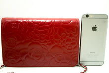 CHANEL Red Camellia Wallet On Chain WOC Shoulder Bag Crossbody n69-Chanel-hannari-shop