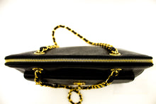 CHANEL Caviar Large Chain Shoulder Bag Black Leather Gold Hardware p01