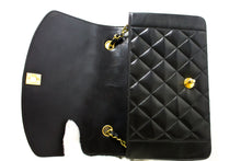 CHANEL Diana Flap Chain Shoulder Bag Crossbody Black Quilted Lamb Q28