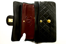 "CHANEL 2.55 Double Flap 9"" Chain Shoulder Bag Black Quilted Lamb s03-Shoulder Bag-hannari-shop"