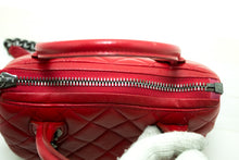 CHANEL 2 Way Red Silver Chain Shoulder Bag Handbag Quilted Calf n83-nel-hannari-shop