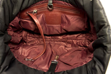 CHANEL Coco Cocoon Nylon Tote сумка Handbag Black Bordeaux Leather z25 hannari-shop