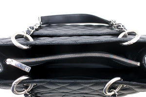 "CHANEL Caviar GST 13 ""Grand Shopping Tote Chain Shoulder Bag Negre R56-hannari-shop"
