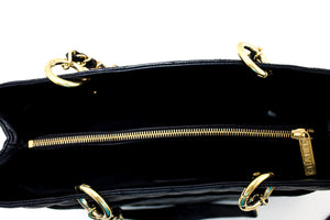 "CHANEL Caviar GST 13 ""Grand Shopping Tote Chain Skoudertas Swart s46-hannari-shop"
