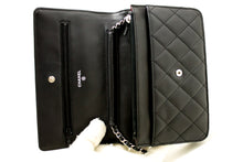 CHANEL Wallet On Chain WOC Black Shoulder Bag Crossbody Lambskin L42-Chanel-hannari-shop