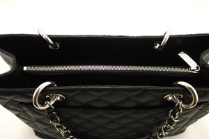 "CHANEL Caviar GST 13"" Grand Shopping Tote Chain Shoulder Bag Black L06-Chanel-hannari-shop"