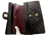 CHANEL Cambon Tote Large Shoulder Bag Black Quilted Calfskin CC k86-Chanel-hannari-shop