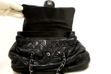 CHANEL Double Chain Shoulder Bag Black Flap Lambskin Leather SV m89