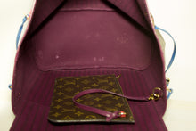 Louis Vuitton Auth Monogram Totem Neverfull MM Magenta M41664 Skulderveske n37-Louis Vuitton-hannari-shop