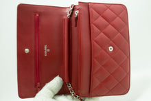 CHANEL Red Wallet On Chain WOC ejika apo Crossbody idimu Agutan n74-Chanel-hannari-shop