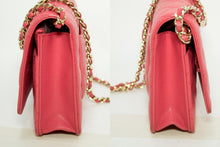 CHANEL Caviar Wallet On Chain WOC Pink Shoulder Bag Crossbody n06-Chanel-hannari-shop
