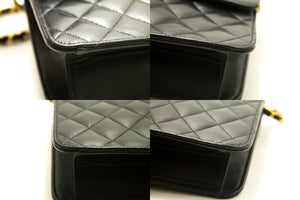 CHANEL Chain Shoulder Bag Clutch Black Quilted Flap Lambskin p56-Chanel-hannari-shop