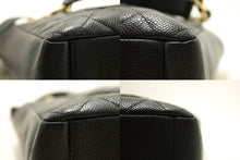 CHANEL Caviar PST Chain Shoulder Bag Shopping Tote Black Quilted n79-Chanel-hannari-shop