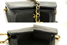 CHANEL Chain Shoulder Bag Clutch Black Quilted Flap Lambskin Purse L60
