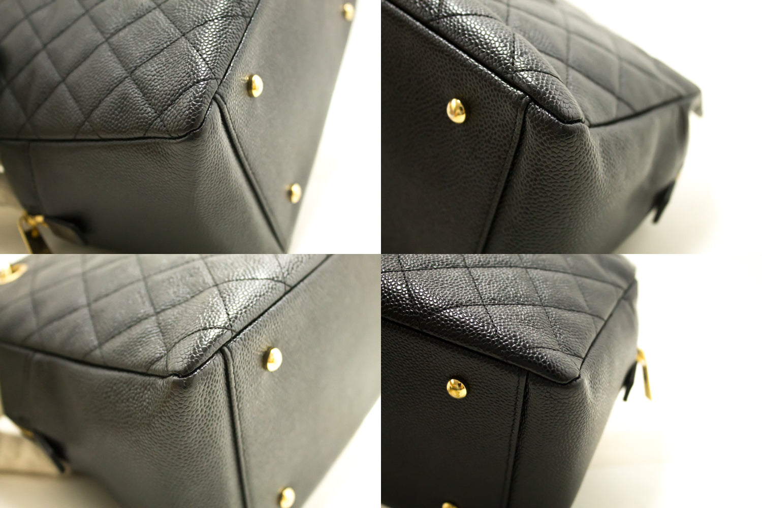 16823ff2f0 ... CHANEL Caviar Chain Shoulder Bag Shopping Tote Black Quilted n16 ...