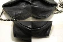 CHANEL Caviar Half Moon WOC Black Wallet On Chain Shoulder Bag Q27-Chanel-hannari-shop