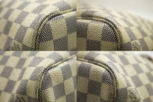 手提包Damier Azur Neverfull PM路易威登(Louis Vuitton)棕色皮革k70-Louis Vuitton-hannari-shop