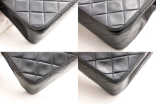 CHANEL Chain Shoulder Bag Black Quilted Flap Lambskin Leather z47 hannari-shop