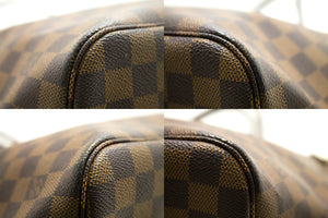 Louis Vuitton Damier Ebene Ποτέ μη γεμάτο τσάντα ώμου MM Canvas k64-Louis Vuitton-hannari-shop