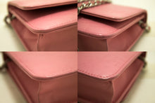 CHANEL Pink Camellia Wallet On Chain WOC Shoulder Bag Crossbody L88