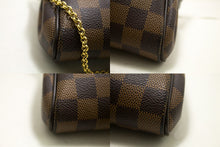 Louis Vuitton Eva Ebene Damier Canvas Shoulder Bag Handbag Gold R38-uis Vuitton-hannari-shop