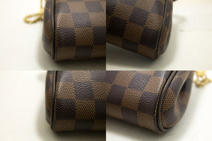 Louis Vuitton Eva Ebene Damier Canvas Shoulder Bag Handbag Gold p48-Louis Vuitton-hannari-shop