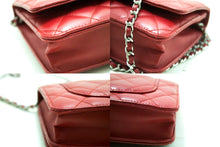 CHANEL Red Wallet On Chain WOC Shoulder Bag Crossbody Clutch Lamb p18