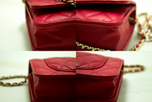 CHANEL Red Pink Wallet On Chain WOC Shoulder Bag Crossbody Clutch p19