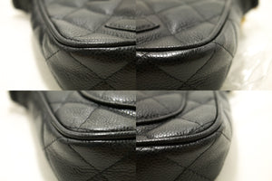 CHANEL Caviar Mini Small Chain One Shoulder Bag Black Quilted m65-Chanel-hannari-shop