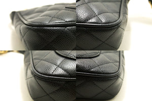 CHANEL Caviar Mini Small Chain One Shoulder Bag Black Quilted p71-anel-hannari-shop