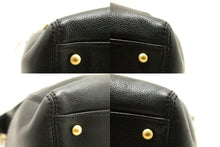 CHANEL Soft Caviar Chain One Shoulder Bag Black Leather Gold Zip L77