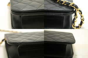 CHANEL Chain Shoulder Bag Clutch Black Quilted Flap Lambskin p39