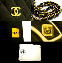 CHANEL Chain Shoulder Bag Clutch Black Quilted Flap Lambskin Purse p57-Chanel-hannari-shop