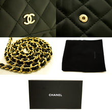 CHANEL Wallet On Chain WOC Black Shoulder Bag Crossbody Lambskin k84-Chanel-hannari-shop