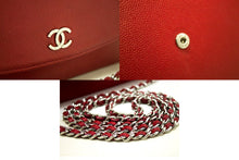 CHANEL Red Caviar Wallet On Chain WOC Shoulder Bag Crossbody n09-Chanel-hannari-shop