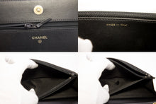 ʻO CHANEL Boy V-Stitch Caviar Wallet ma Chain WOC Black Shoulder Bag t82-hannari-shop