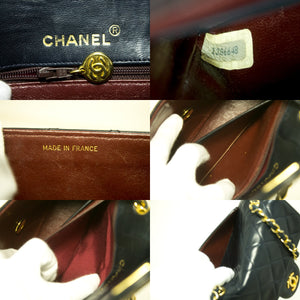 CHANEL Navy Mini Square Small Chain Rameno Taška Crossbody Kabelka R62