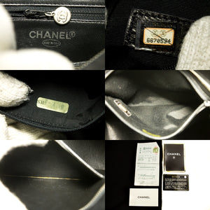 CHANEL Silver Medallion Caviar Shoulder Bag Shopping Tote Black p67-hanel-hannari-shop