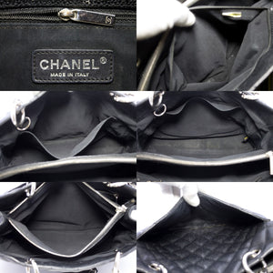 "CHANEL Caviar GST 13"" Grand Shopping Tote Chain Shoulder Bag Black s72"