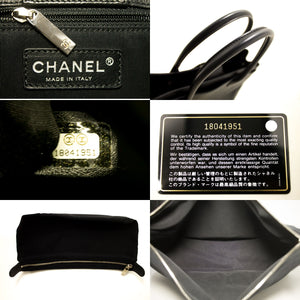 CHANEL Executive Tote Caviar Shoulder Bag Bossa de plata negre j76-Chanel.-hannari-shop