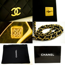 CHANEL Chain Shoulder Bag Clutch Black Quilted Flap Lambskin Gold j98